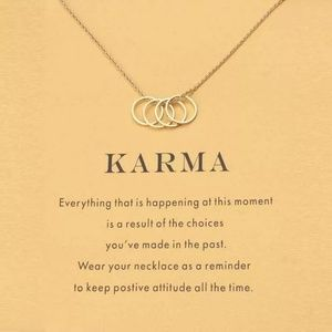 Gold Karma circle Necklace